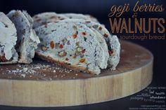 Goji berries and walnuts sourdough bread