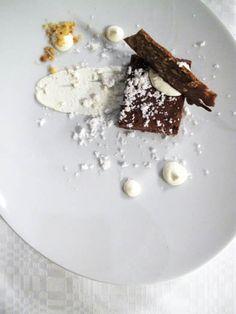 Chocolat mud cake at restaurant Helmi, Helsinki