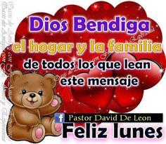 Dios los bendiga y les regala un inicio de semana lleno de bendiciones