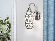 Willa Arlo Interiors This lamp makes a perfect addition to any modern or glam interior. Beliani, Wall Light Fittings, Light, Glass Shades, Wall Candles, Willa Arlo Interiors, Wall Spotlights, Wall Lights Uk, Light Fittings