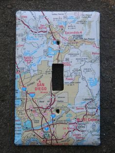 Neat idea to keep in mind - San Diego California and Surrounding Area Road Map Light Switch Plate Cover