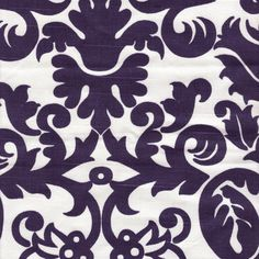Navy Damask Fabric by the Yard from PoshTots