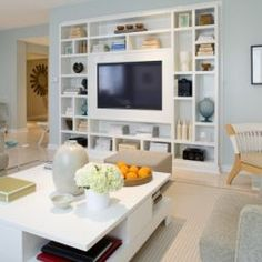 Open Shelving Entertainment Center Design Pictures Remodel Decor And Ideas