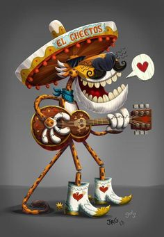 Book Of Life - Chester Cheetah drawing