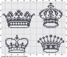Free princess crown Cross Stitch Patterns  | Crowns freebie, thanks so for sharing xo