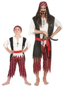 Costume pirata coppia  padre e figlio e fantastici costumi per Carnevale di  coppia o di e09a274f478d