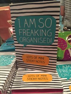 """""""I am so freaking organised!"""" Made me laugh - I'm a declutterer"""