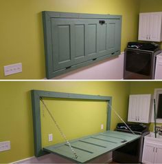 Use a door for a foldout table