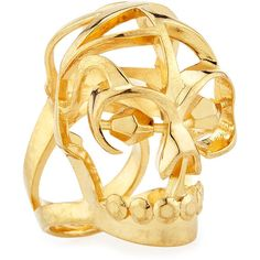 Alexander McQueen Deco Skull Large Open Ring (1.680 BRL) ❤ liked on Polyvore featuring jewelry, rings, skulls, silver, golden jewelry, skull ring, art deco ring, deco ring and art deco inspired jewelry