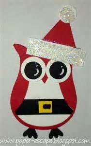Christmas owl card: