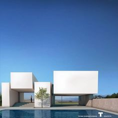 For more, visit our site. New Project of Luxury Villa by Teotimo Architect Located in Tenerife - Canary Islands - Spain . Concrete Architecture, Minimal Architecture, Architecture Photo, Residential Architecture, Amazing Architecture, Contemporary Architecture, Contemporary Design, Villa Design, Facade Design