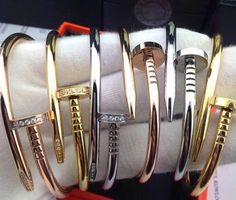 Nail bracelet Available on silver , gold or rose gold , in 17 and 18 cms Jewelry Bracelets The Bangles, Bangles Making, Love Bracelets, Gold Bangles, Silver Bracelets, Jewelry Bracelets, Jewlery, Gold Bangle Bracelet, Diamond Bracelets