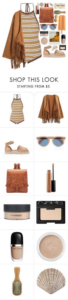 """""""Free Ticket to Nowhere"""" by majomilk ❤ liked on Polyvore featuring SHE MADE ME, Chicnova Fashion, Cutler and Gross, MAC Cosmetics, NARS Cosmetics, Marc Jacobs, Bare Escentuals and The Body Shop"""