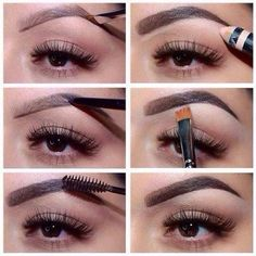 New Ideas Makeup Ideas Contouring Perfect Brows Eyebrow Tutorial Eyebrow Pencil, Eyebrow Makeup, Skin Makeup, Eyebrow Tinting, Makeup Contouring, Eyebrow Regrowth, Makeup Eyebrows, Eyebrow Game, Eyebrow Trimmer