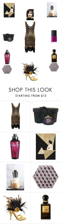 """""""Gatsby party"""" by einder ❤ liked on Polyvore featuring Prada, Tom Ford and NARS Cosmetics"""