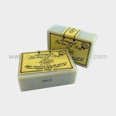 Jabón artesanal de aceite de árbol de té. Tratamiento acné y hongos