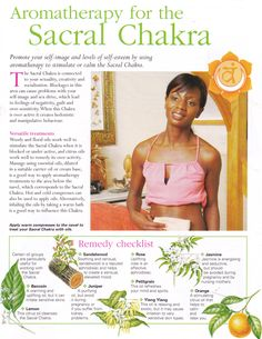 Aromatherapy for the Sacral chakra