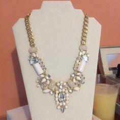 White statement necklace $10 from Walmart