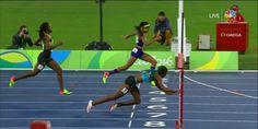 Shaunae Miller całkiem dosłownie sięgnęła po złoto :)