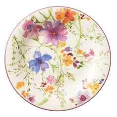 Outfit your table with a look of elegance and femineity with the Villeroy & Boch Mariefleur Dinnerware. Flaunting gorgeous floral patterns in spring-inspired hues, each piece is crafted of porcelain that is both dishwasher and microwave safe. Porcelain Ceramics, China Porcelain, Ceramic Plates, Decorative Plates, Villeroy Boch Mariefleur, Breakfast Plate, Lush Garden, China Painting, China Patterns