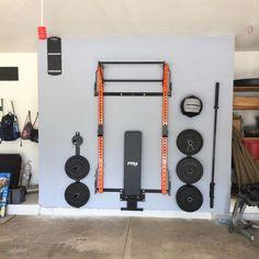 Extreme Home Makeover: Garage Gym Edition Home Gym Basement, Home Gym Garage, Diy Home Gym, Home Gym Decor, Gym Room At Home, Daddy's Home, Gym Lighting, Lighting Ideas, Home Gym Design