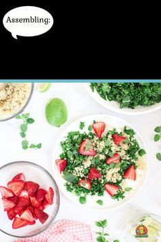 This Massaged Kale Salad is topped with a dreamy Strawberry Champagne Vinaigrette and is vegan AND gluten-free. A healthy vegan salad recipe that takes less than 15 minutes to prepare, requires few ingredients, and makes for the perfect vegan lunch. #massagedkalesalad #massagedkalesaladrecipes #massagedkalesaladhealthy #massagedkalesaladvegan #strawberrychampagnevinaigrette #veganlunchrecipes #vegansaladrecipes Kale Salad Recipes, Vegan Lunch Recipes, Best Vegan Recipes, Vegan Dinners, Best Vegan Breakfast, Vegan Breakfast Recipes, Spring Salad, Summer Salads, Massaged Kale Salad