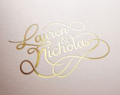 Lauren & Nicholas' Wedding by Christopher Reath, via Behance