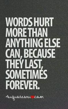 Words stick