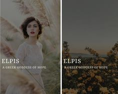 elpis (ἐλπίς) - greek goddess of hope elpis (ἐλπίς) - greek goddess of hopeYou can find Greek gods and more on our website.elpis (ἐλπίς) - greek goddess of hope elpis (ἐλπίς) - . Greek And Roman Mythology, Greek Gods And Goddesses, Names Of Goddesses, Greek Goddess Mythology, Greece Mythology, Names With Meaning, Goddess Names And Meanings, Female Goddess Names, Aesthetic Names