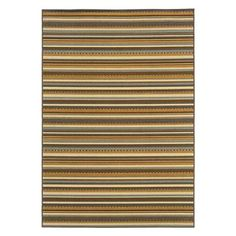 """Bali Neutral Stripe Outdoor Rug in 7'10"""" round or possible rectangle?"""