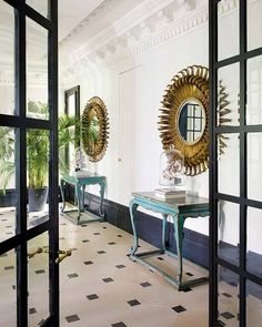 Today I move forward into much more familiar territory of elegant eclectic modern interiors. This tastefully decorated apartment is the work of Soledad Suárez de Lezo, a Spanish designer, who quit … Decor, Home, Modern Interior, Hall Design, Furniture, House, White Floors, Interior Design Inspiration, Apartment Decor