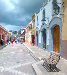 calles de San Cristobal de las casas, México.