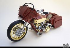 https://flic.kr/p/M29ZQd   Harley Davidson Street Glide Custom in Lego 1/10   My…