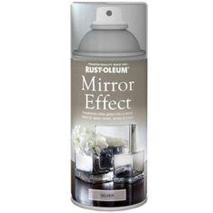 Rust-Oleum Mirror Effect Spray Paint Silver Gloss Finish - 150ml