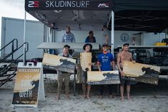 LEFT TO RIGHT. ALEX FAWESS, BALARAM STACK, TJ GUMIELA & LEIF ENGSTROM. PAY DAY ! PHOTO ANDREEA PURCARU WATERS