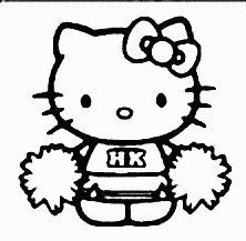 Hello Kitty Cheerleader 6 Soft Toy 2013 Ty Sanrio Vgc With