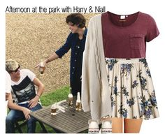 Afternoon at the park with Harry & Niall by rowenafsouriya on Polyvore featuring polyvore fashion style Object Collectors Item Xhilaration DKNY Converse clothing