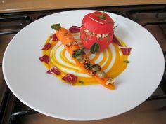 Tomate farci de dindon et carottes Gino D'Aquino