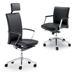 Fair Play Executive Chairs combine comfort and exclusivity. These slim executive office swivel chairs with fine premium leather upholstery are eye-catching for  management or executive offices and are extremely comfortable too.