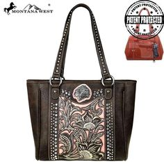 MW425G-8318 Montana West Native American Concealed Carry Tote-Coffee