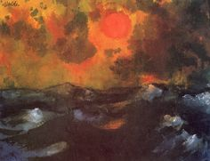Emil Nolde  Sea with red sun