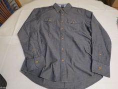 Tommy Hilfiger dress shirt long sleeve 7839185 Black Iris 002 Slim Fit XXL Mens