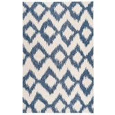 Found it at DwellStudio - Diamond Ikat Indigo Rug for hallway