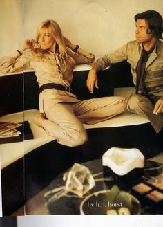 1969 - Betty & Francois Catroux in YSL's saharienne by Horst
