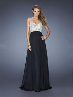 Strapless Sweetheart Beadings Sequins Floor Length Chiffon Prom Dress PD11714 www.dresseshouse.co.uk $129.0000