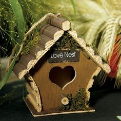 Mini Wooden Bird Houses by Beau-coup
