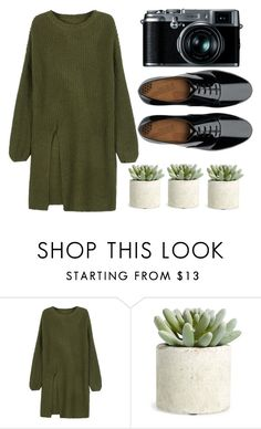 """#004"" by jademitts ❤ liked on Polyvore featuring WithChic, Allstate Floral, Fujifilm, FitFlop, casual, GREEN, camera and thebrownkindadoesntgo"