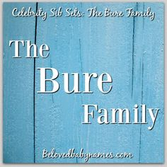 Beloved Baby Names: Celebrity Sib Sets: The Bure Family! Celebrity Baby Names, Celebrity Babies, Fuller House, Hello Everyone, Things To Think About, Thoughts, Celebrities, Books, Fun