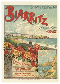 biarritz Breaking my own rules about posting travel posters Date