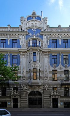 Art nouveau of riga - skyscrapercity vintage architecture, art nouveau arch Architecture Art Nouveau, Beautiful Architecture, Art And Architecture, Architecture Details, Minimalist Architecture, Riga, Colonial Mansion, Neoclassical Architecture, Examples Of Art